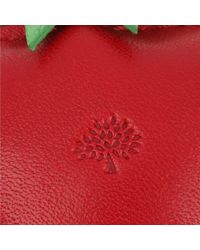 Mulberry Red Tomato Leather Keyring for men