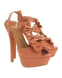 Office Pink Outrageous Bow Sandal Coral