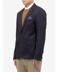 Scotch & Soda Blue Cotton-piqué Blazer for men
