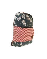 Vans Van Doren Ii Backpack Red Check Navy Aloha for men