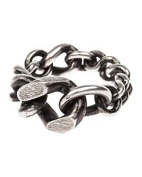 Werkstatt:münchen | Metallic Mixed Chain Ring for Men | Lyst
