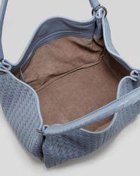 Bottega Veneta Medium Woven Double-strap Tote Bag Blue