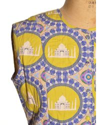 Charlotte Taylor Yellow Taj Quilted Dress By