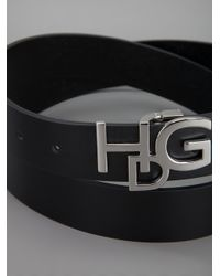 Givenchy Black Logo Buckle Belt for men