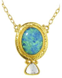 Gurhan - Metallic Opal Drop Necklace - Lyst