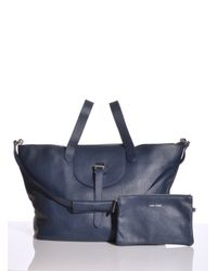 meli melo Blue Thela Bag in Soft Navy Leather One Only Back in Stock By