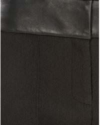Alexander Wang Black Bermuda Short with Leather Waistband