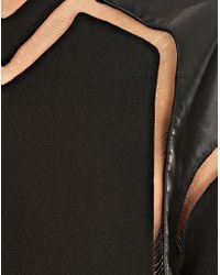 Alexander Wang Black Fishline Hockey Jersey Dress With Leather Blocking