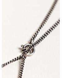 Ann Demeulemeester Metallic Womens Long Mirror Necklace