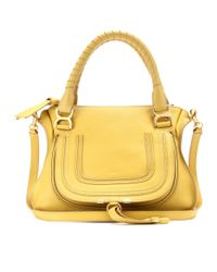 Chloé Yellow Marcie Medium Leather Handbag