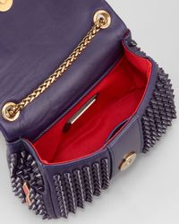 Christian Louboutin Sweet Charity Spiked Crossbody Bag Purple