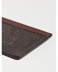 Dries Van Noten Brown Mens Flat Card Holder for men