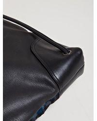 Dries Van Noten Black Mens Cow Hide Drawstring Bag for men