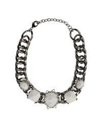Fenton | White Necklace | Lyst