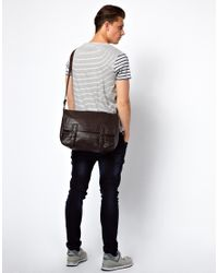 French Connection Brown Messenger Bag for men