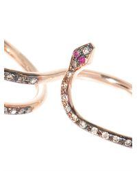 Ileana Makri - Pink Diamond Ruby Gold Snake Ring - Lyst