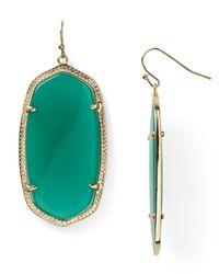 Kendra Scott Green Danielle Oval Stone Earrings