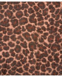 Marc By Marc Jacobs Multicolor Leonora Leopard Print Scarf