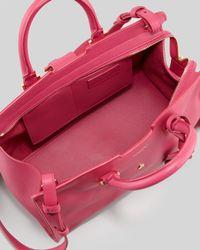 Saint Laurent | Purple Cabas Yligne Mini Leather Carryall Bag Pink | Lyst