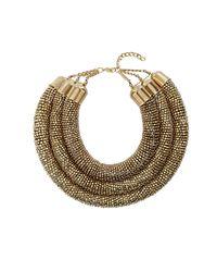 TOPSHOP - Metallic Premium Large Twist Multirow Necklace - Lyst