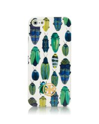 Tory Burch Green Multi Beetle Hardshell Case For Iphone 5