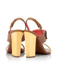 Tory Burch Red Tanner High Heel Sandal