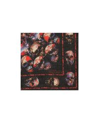 Alexander McQueen Red Stained Glass Catacomb Skull Scarf