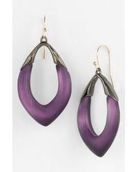 Alexis Bittar | Purple Lucite Neo Bohemian Open Drop Earrings | Lyst