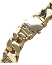 AllSaints - Metallic Valtari Necklace for Men - Lyst