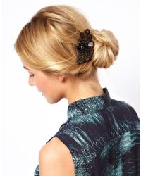 ASOS - Black Limited Edition Paisley Stone Hair Brooch - Lyst