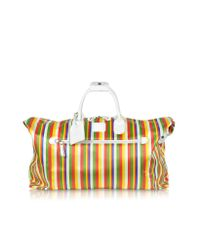 Bric's Multicolor Xbag Righe Striped Holdall Duffle Bag