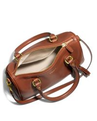 COACH Brown Legacy Mini Satchel in Leather