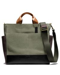 COACH Gray Bleecker Utility Tote in Canvas for men