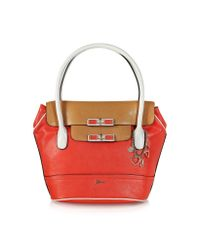 Guess Red Siggi Flap Eco Leather Satchel
