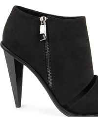 KG by Kurt Geiger - Black Closed Fauxsuede Shoe Boots - Lyst