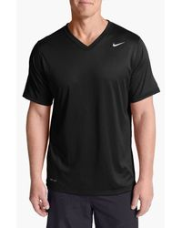 Nike | Black 'legend' Dri-fit V-neck T-shirt for Men | Lyst