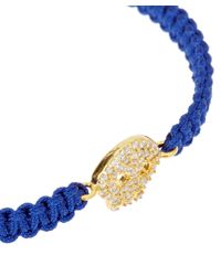 Tai - Blue Macramé Skull Charm Bracelet - Lyst