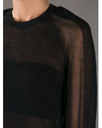 Theyskens' Theory Black Kindley Sheer Sweater