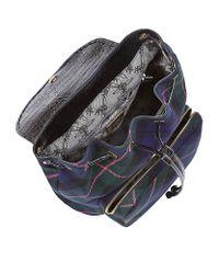 Vivienne Westwood Blue Winter Tartan Backpack
