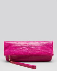 B Brian Atwood - Pink Clutch Robin Fold-over - Lyst
