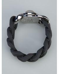 Marc By Marc Jacobs Black Katie Rubber Bracelet