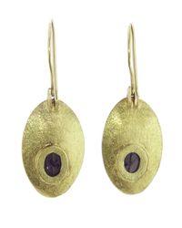 Todd Reed - Metallic Oval Dish Earring - Lyst
