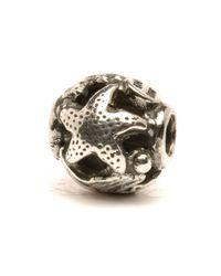 Trollbeads Metallic Ocean Silver Bead
