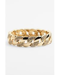 Anne Klein | Metallic Link Stretch Bracelet | Lyst