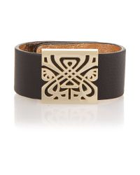 Biba | Black Leather Wrist Cuff | Lyst