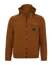 Duck and Cover Brown Hooded Jacket for men