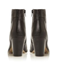 Dune Black Nins Back Zip Ankle Boots