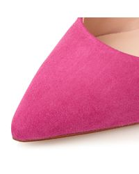 Dune Pink Aviator Mid Heel Court Shoes