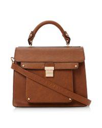 Dune Brown Datchel Structured Satchel Bag