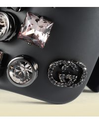 Gucci - Black Plexiglass Cuff with Crystal Studs - Lyst